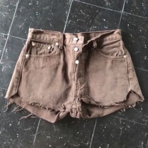 Vintage LEVI'S High Waisted Shorts Black Size 24